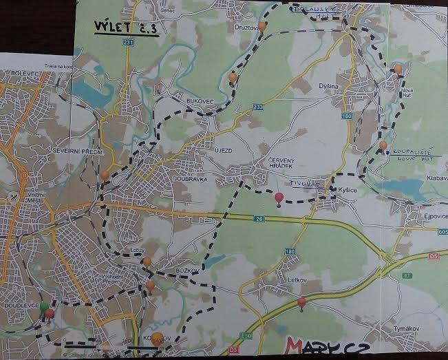 Výlet 3 – Na kole na Dolanský most, Ejpovické jezírko